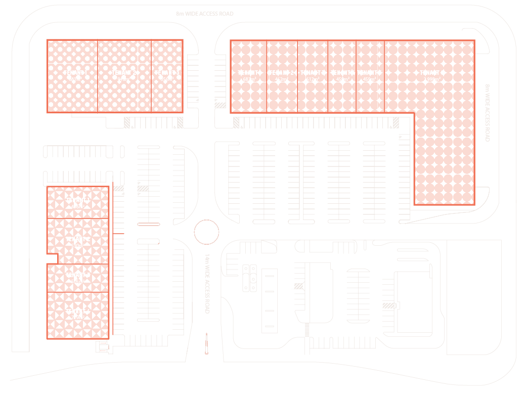Depot Floorplate showing all store space available.